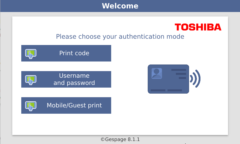 Toshiba • Gespage, Print management software